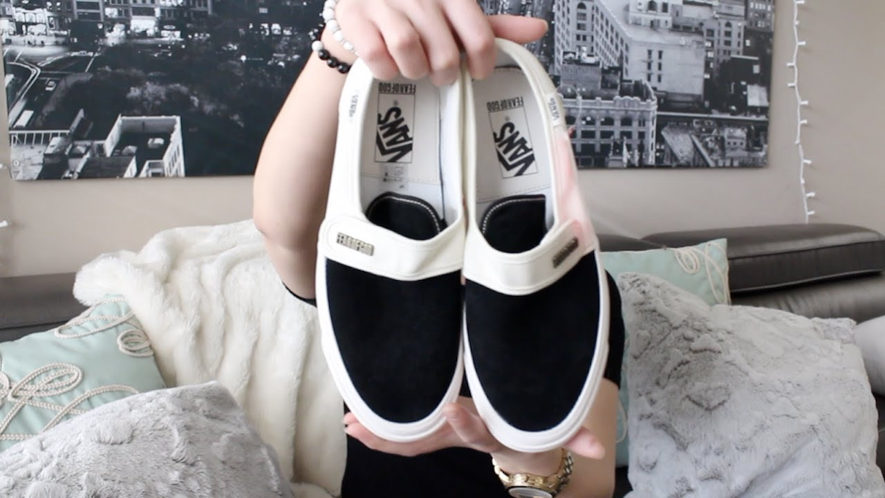3f7ad3e97b5 Fear of God x Vans  Unboxing Review (Black and White Velcros) - YouTube