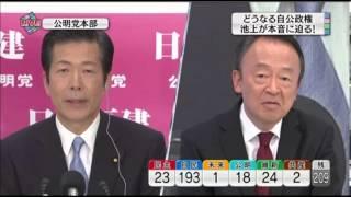 政治ジャーナリストの池上彰による、 公明党山口代表へのインタビュー動...