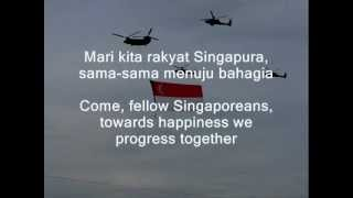 "Singapore National Anthem ""majulah Singapura""  Onward Singapore"
