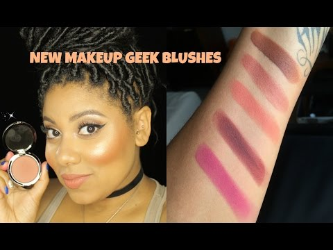 NEW Makeup Geek Blushes Review + Swatches thumbnail