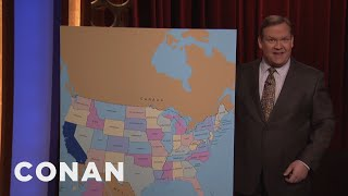 worried about president trump move north to california conan on tbs