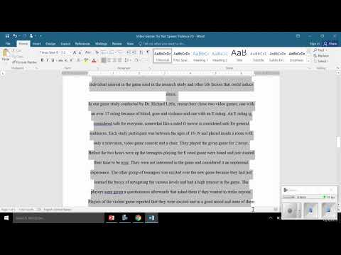 Formatting A Research Paper Using MLA Format
