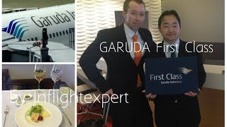 Garuda Indonesia FIRST CLASS - New GARUDA First Class Suite - 1080 [HD] Full Flight Experience