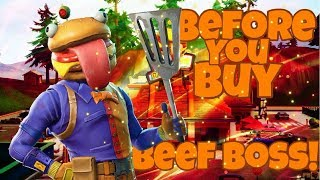 Beef Boss Skin | Patty Whacker Harvesting Tool | Before You Buy | Fortnite Battle Royale