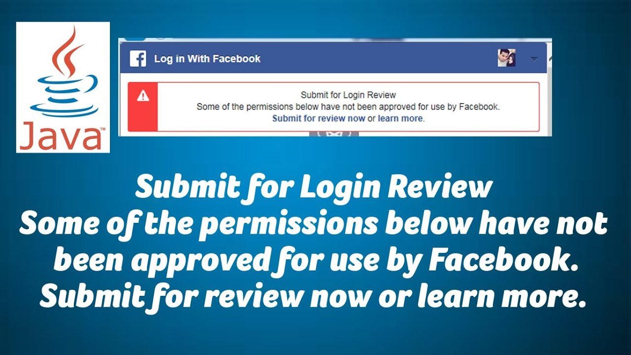 Some of the permissions below have not been approved for use by Facebook