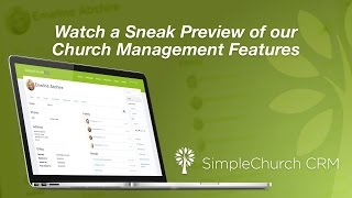 SimpleChurch CRM - Overview