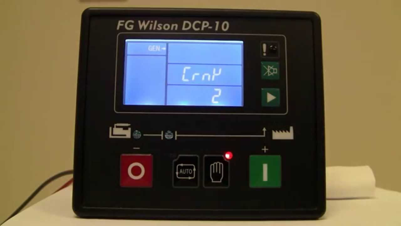 How To Navigate A Fg Wilson Dcp 10 English