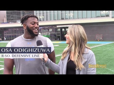 UCLA Spring post practice, DL Osa Odighizuwa