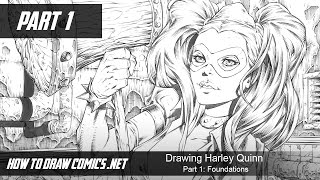 Drawing Harley Quinn - Part 1: Foundations