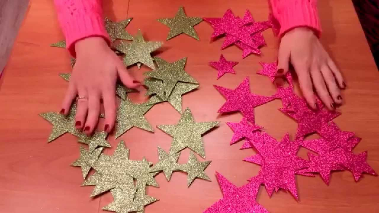 Новогодние гирлянды сделать своими руками