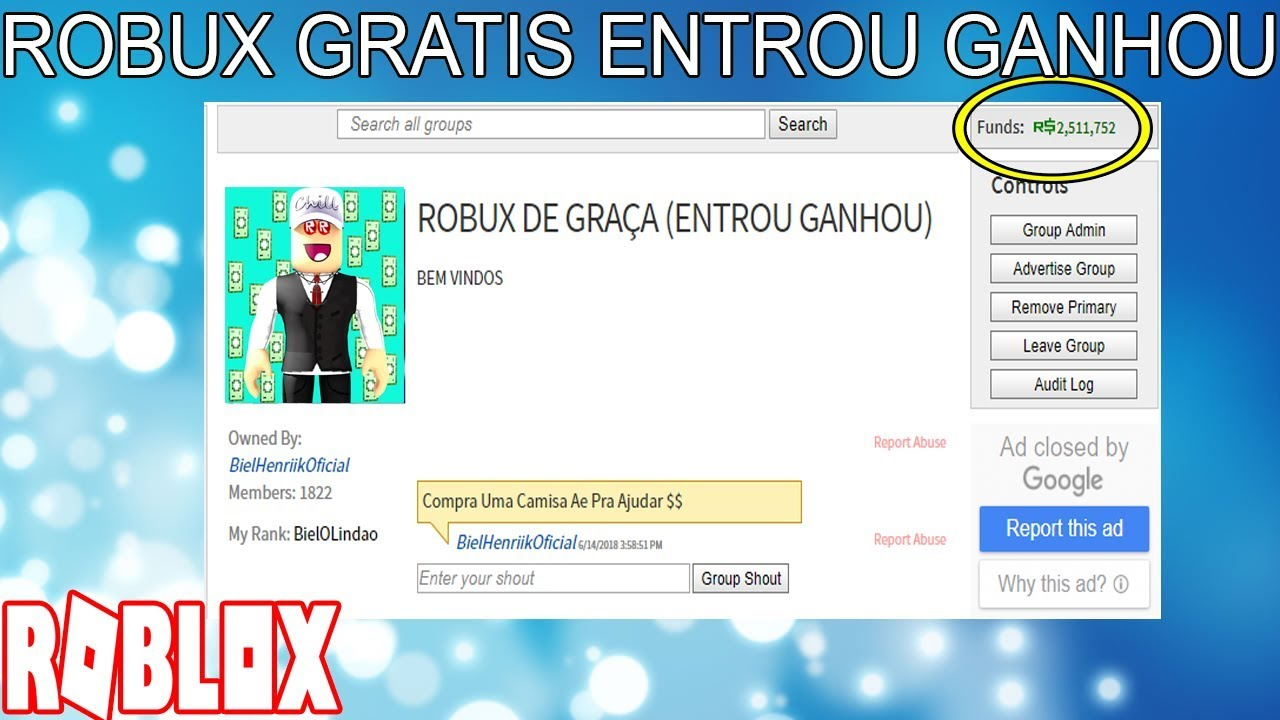 Esse Grupo Te Da Robux Gratis No Roblox Youtube