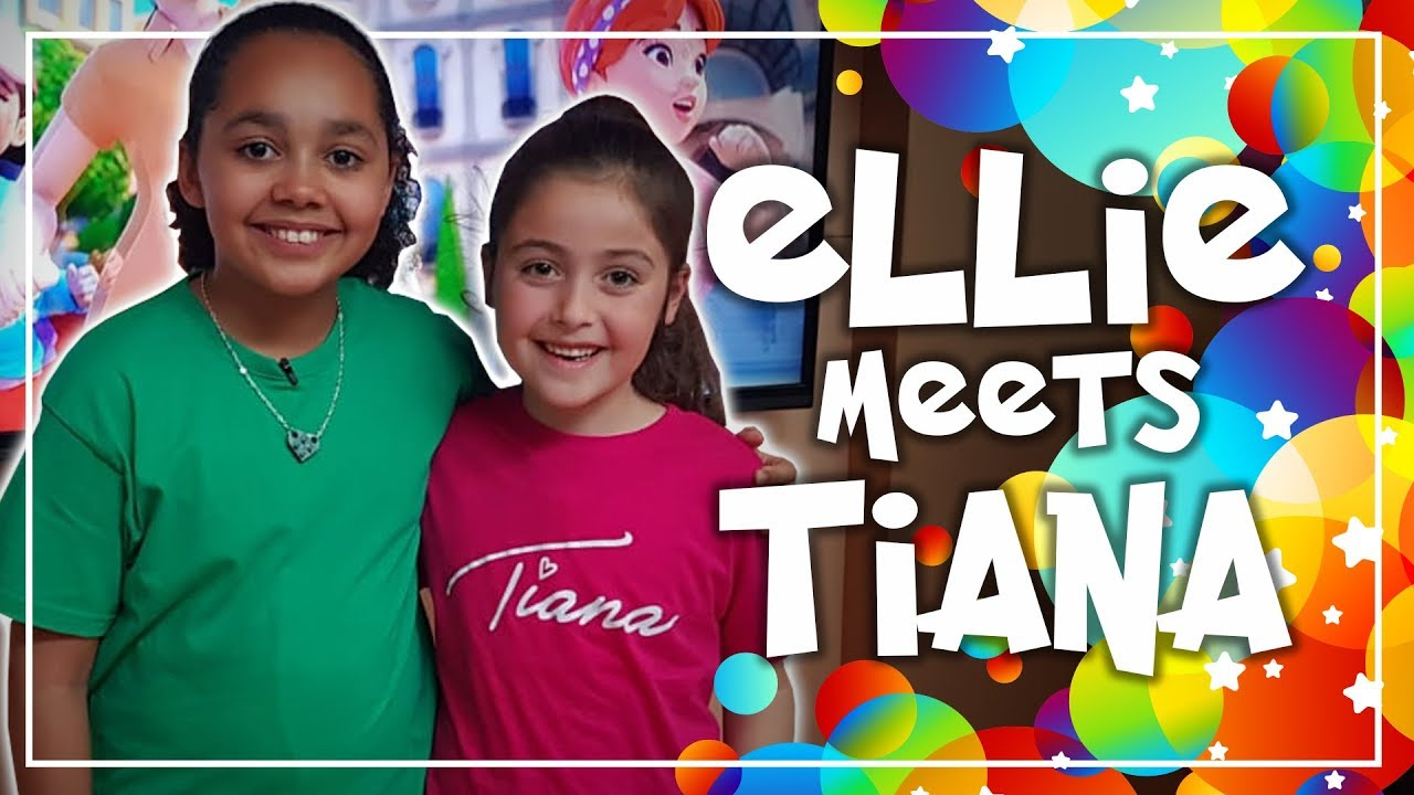 Ellie Meets Tiana Toys And Me Meet And Greet Ellie S