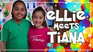 Ellie Meets Tiana Toys And Me, Meet And Greet   Ellie's Little Kingdom