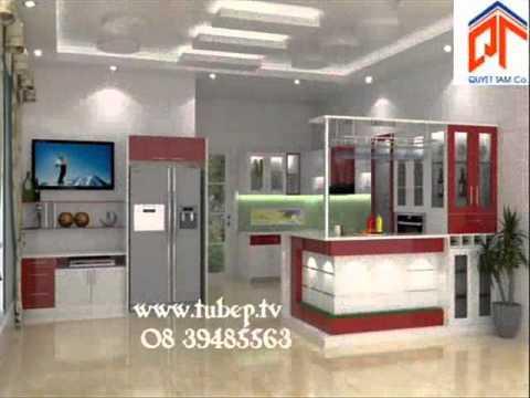Tủ bếp đẹp do tủ bếp xinh thiết kế kiểu dáng hiện đại và trang nhã