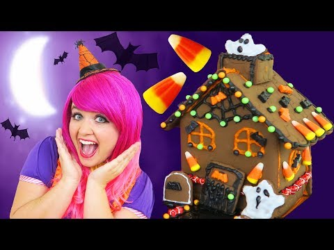 Let's Make A Halloween Cookie House! | DIY Halloween Chocolate Cookie House Kit | KiMMi THE CLOWN