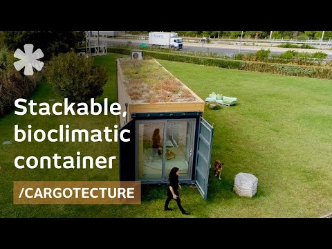 On designing a stackable, bioclimatic shipping container home