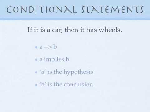Conditional statements, converse, inverse, contrapositive