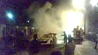 انفجار پژو 207 در بلوار پرستار کرمان