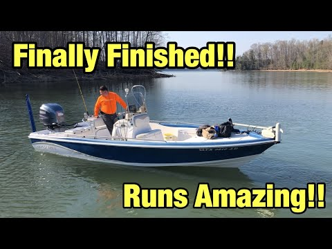Rebuilding A Wrecked Storm Damage Blue Wave Boat Part 5
