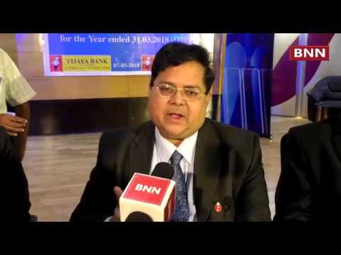 Vijaya Bank Announced Financial Result of the Bank For the Year Ended 31st March 2018