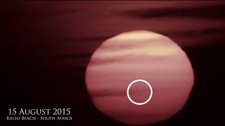 Giant Alien Objects in front of the Sun - Latest UFO Sightings - Africa Travel Channel