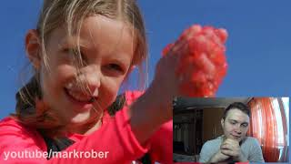 World's LARGEST JELLO POOL- Can you swim in Jello?   REACTION #jellopool #reaction