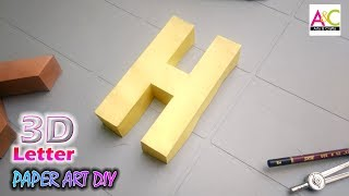 Learn to make 3d letters from paper, letter H h