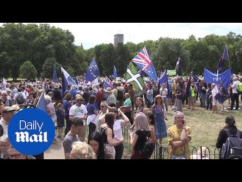 Campaigners in London demand there be a second Brexit vote