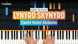 Sweet home alabama for voice, piano or guitar, intermediate sheet music. How To Play Sweet Home Alabama By Lynyrd Skynyrd Hdpiano Part 1 Piano Tutorial Youtube