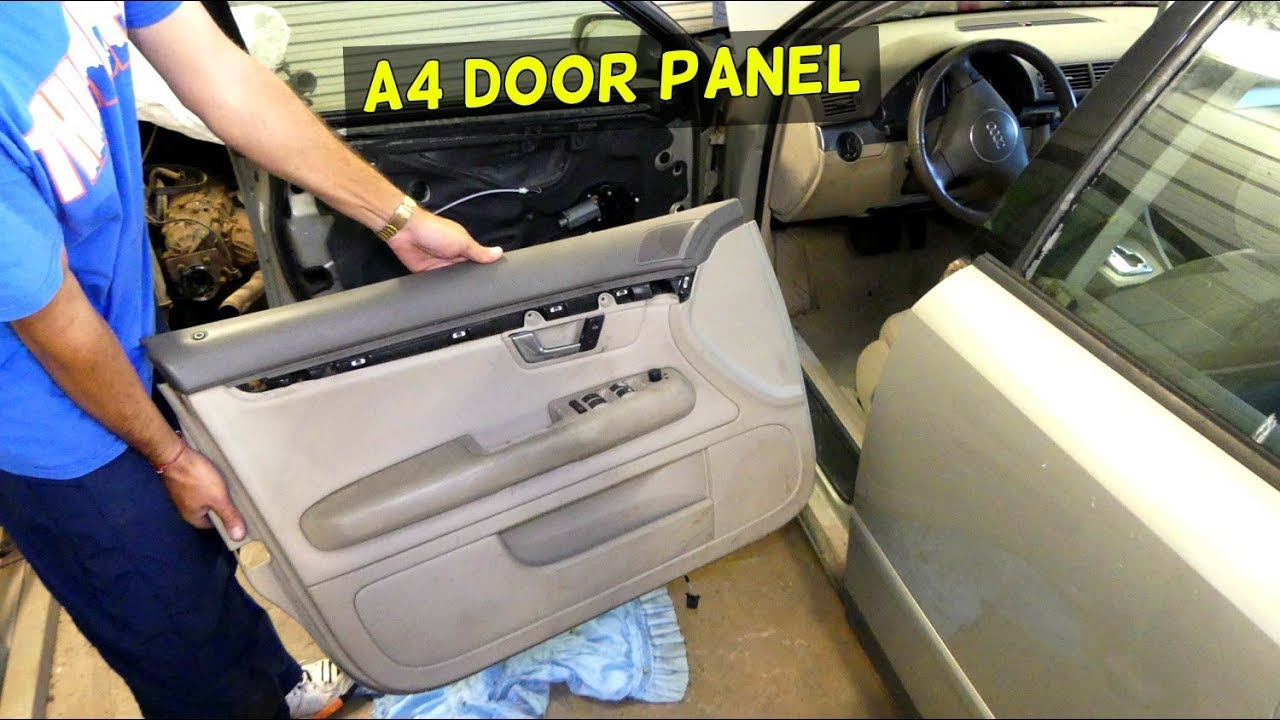 Audi A4 B6 Front Door Panel Removal Replacement Youtube