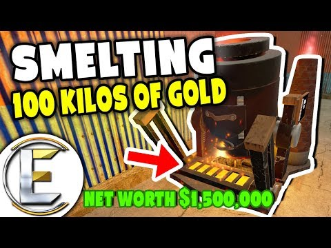Smelting 100 Kilos Of Gold! - Gmod DarkRP Life (Net Worth Over $1,500,000 Mining And Refining Ores)