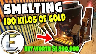 smelting-100-kilos-of-gold-gmod-darkrp-life-net-worth-over-1-500-000-mining-and-refining-ores