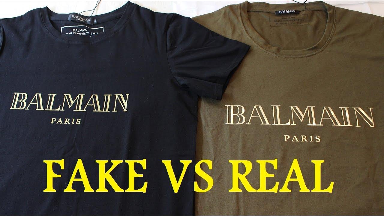 2e986212 HOW TO SPOT A FAKE BALMAIN T SHIRT | Authentic vs Replica BALMAIN review  guide - YouTube