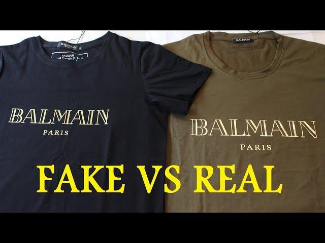 f7510afb95c HOW TO SPOT A FAKE BALMAIN T SHIRT