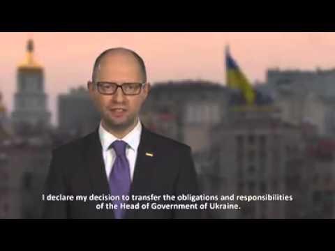 Address of the Prime Minister of Ukraine Arseniy Yatsenyuk