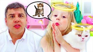 Stacy e o pai compraram um gatinho
