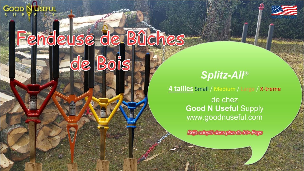 Fendeuse Buche Outil Manuel Innovant Fendeur Bois Splitz All Good N Useful Made In Usa By New3s Youtube