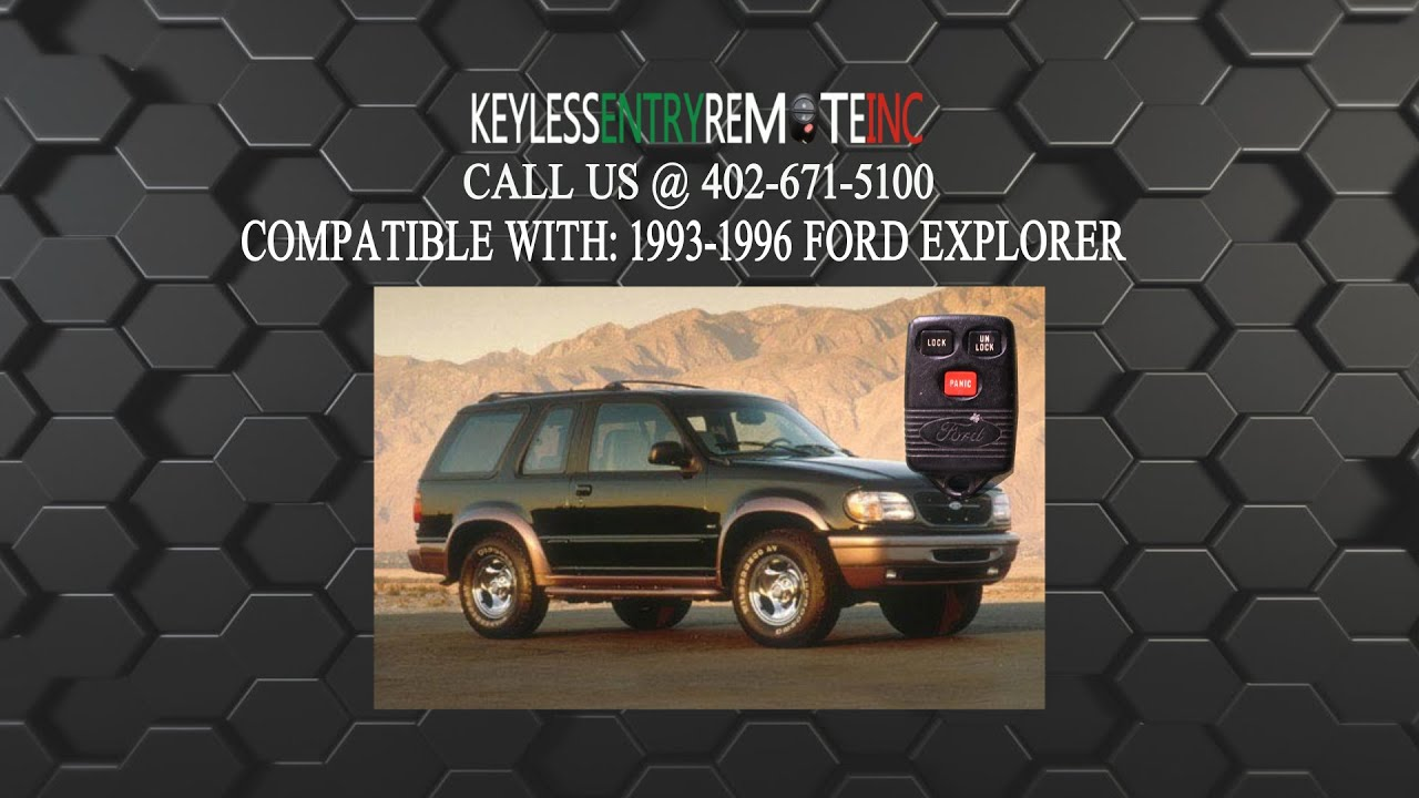 How To Replace Ford Explorer Key Fob Battery 1993 1994 1995 1996