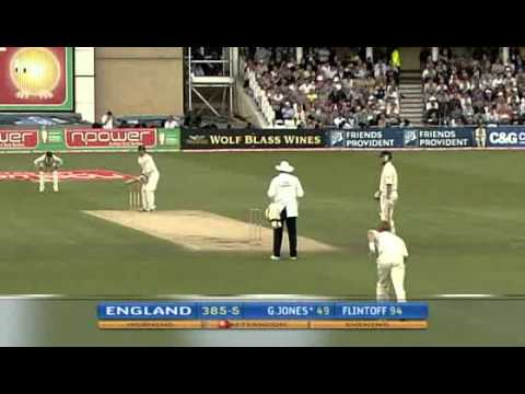 Freddie Flintoff does Elvis and breaks cape