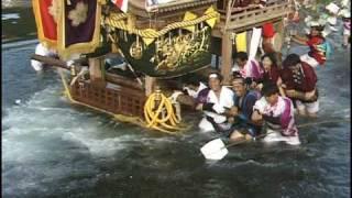 沼島の夏祭りは5月3日~4日の二日間、引きダンジリが三台 徳川、豊臣、...