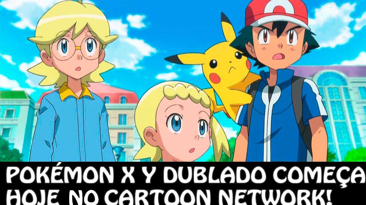Pokemon And Y Cartoon Characters : Pokémon y dublado no cartoon network youtube