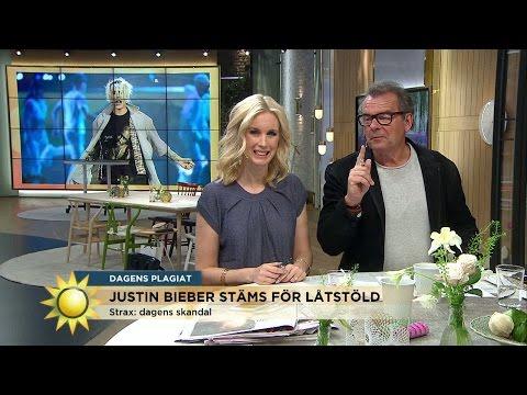Bieber stäms för låtstöld - Nyhetsmorgon (TV4)
