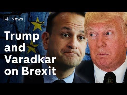 Donald Trump and Leo Varadkar discuss Brexit
