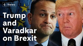 Donald Trump and Leo Varadkar discuss Brexit