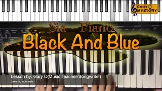 Sia - Black And Blue Song Cover Easy Piano Tutorial/Keyboard Lesson FREE Sheet Music NEW 2016