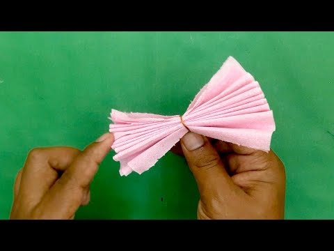 beautiful flower design with Tissue Paper- DIY Paper Craft, dian crafts