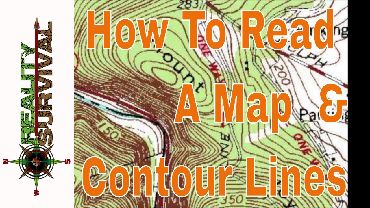 Cliff On A Topographic Map.How To Read A Map Contour Lines Youtube