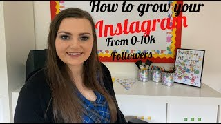 How to get 10k followers on Instagram 2019!