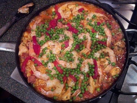 Homemade Shrimp & Chicken Paella