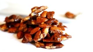 Homemade Candy - Almond Brittle - Easy Recipe - Heghineh.com